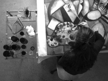 Vera Blok paintings conservator, Chagall - L'autoportrait aux sept doigts