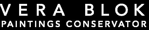 Vera Blok restaurator schilderijen- Amsterdam - logo wit